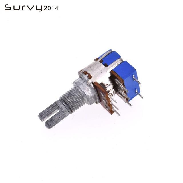 Commutateur de potentiomètre de contrôle de Volume conique stéréo B50K Ohm double Type linéaire 50K R125G