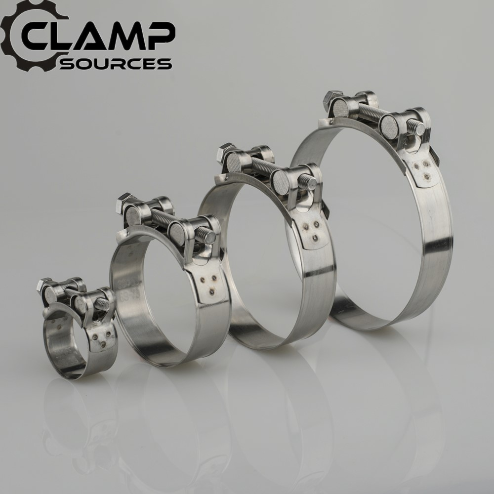 Hose-Clamps-Clips Muffler-Clamp Motocycle Stainless-Steel 51mm 61mm Exhaust Universal