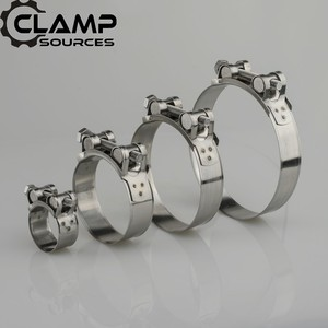 51mm 61mm 76mm 2 2.5 3 Inch Universal Stainless Steel Car Motocycle Muffler Clamp Exhaust Pipe Clamp Hose Clamps Clips(China)