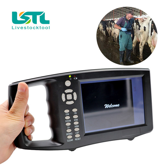 5.6 Inch LCD Screen Portable Veterinary Ultrasound Scanner Cattle Cow Pig sheep Horse farm Ultrasound pregnancy tester