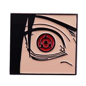 Naruto Sasuke Sharingan badge cool anime accessory