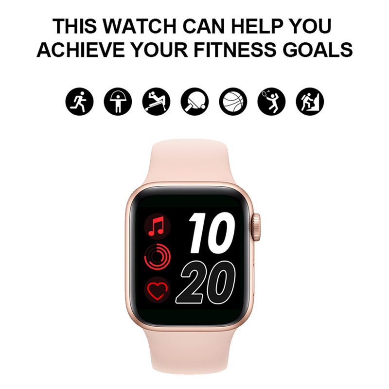 Smartwatch IWO13 T500 Series 5 Bluetooth Call 44mm Smart Watch Heart Rate Monitor Blood Pressure for IOS Android PK IWO 12 IWO 8 2