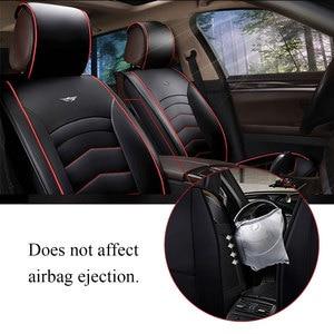 Image 4 - Car Seat Cover PU Leather Cushion Protector SUV for lada VESTA SAMARA for ford FOCUS for tesla Modle 3 Modle X