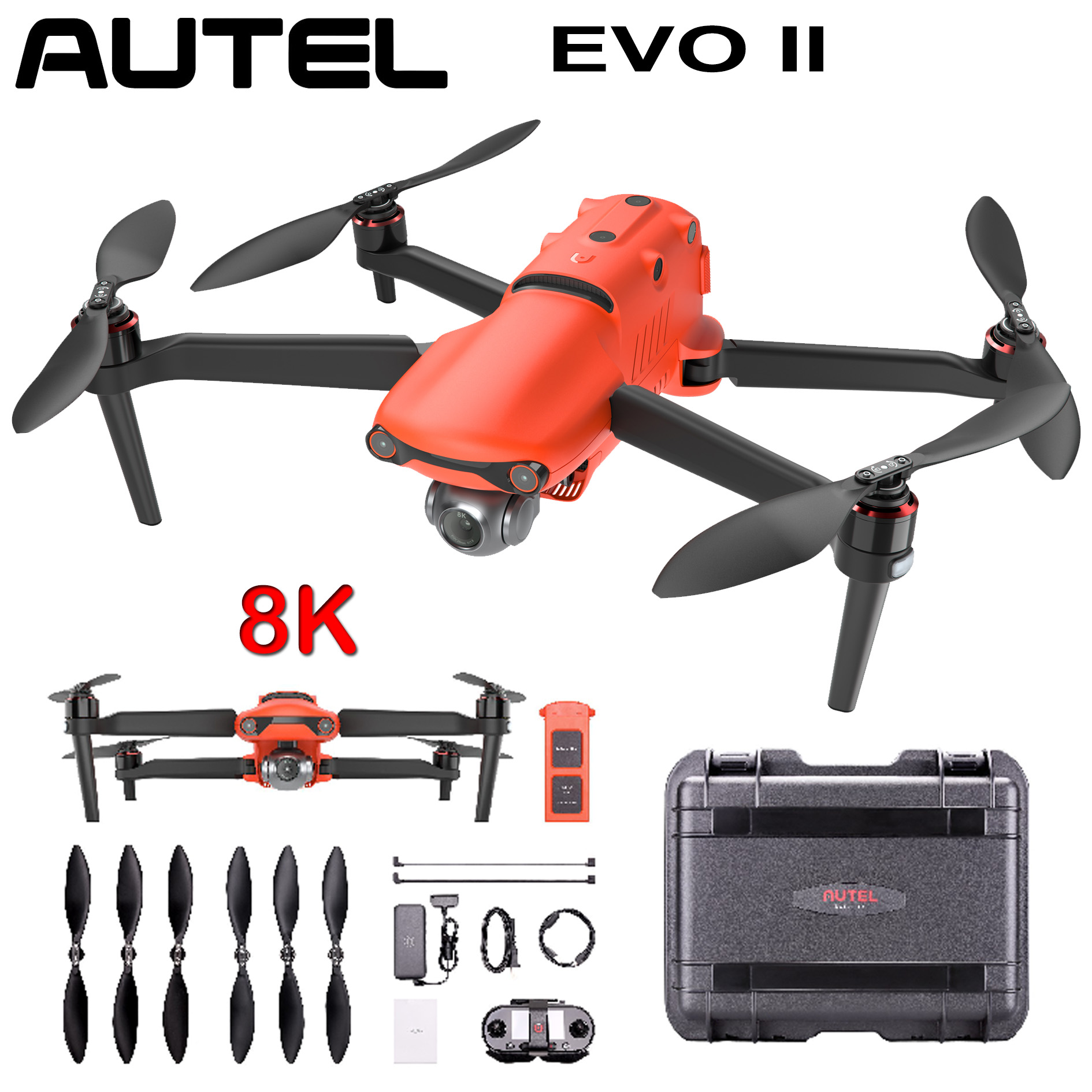 Brand New Autel Robotics EVO Drone Quadcopter Camera 8K 60fps Ultra HD Video Photos Portable(Set Edition image