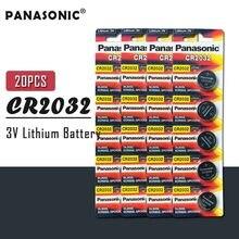 20 sztuk oryginalna bateria guzikowa PANASONIC CR2032 3V baterie litowe do zegarków zabawki kalkulator komputerowy sterowanie CR 2032