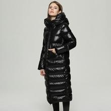 YICIYA 90% White Down Jacket Women Thick Warm Long Winter Coat Women Hooded Female Parka Snow Outwear Puffer Jacket Waterproof цены онлайн