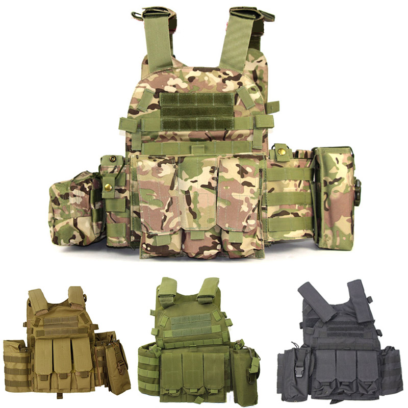 Airsoft Military Tactical Vest Molle Magazine Pouch Multicam Body Armor Plate Carrier Ammo Chest Rig Assault Hunting Combat Gear