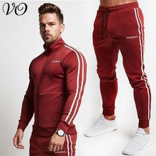 Spring and Autumn New Men's Suit Jogger Fashion Jacket Top Cotton Casual Men's Trousers Fitness Casual Sportswear