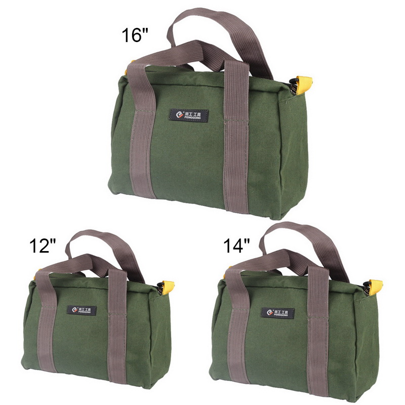 Portable Canvas Hand Tool Storage Bag Multifunction Waterproof Toolkit Screwdrivers Pliers Metal Hardware Parts Organizer Pouch
