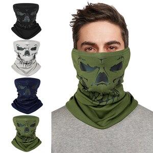 WEST BIKING-Pañuelo reflectante de lana para exteriores, máscara de tubo con cuello de calavera