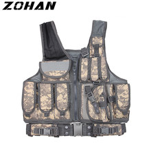 ZOHAN tactical vest accessories military plate carrier vest paintball airsoft summer Breathable hunter combats Vests for Police(China)