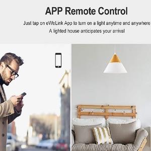 Image 5 - SONOFF T3 Wifi RF kablosuz 433mhz uzaktan kumanda duvar dokunmatik anahtarı ışık paneli soket ab/İngiltere 1/2/3 Gang desteği Google ev Alexa