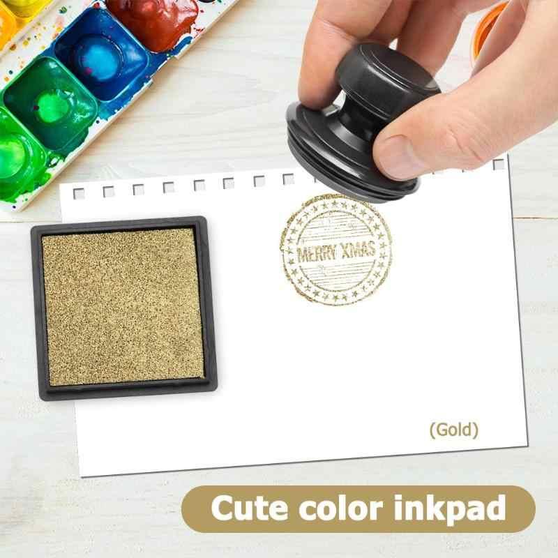1 Pza 4cm tinta almohadilla sello para Scrapbooking colorido Inkpad sellado decoración huella digital plantilla tarjeta hacer DIY sello manualidades