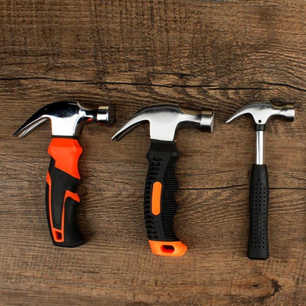 Магнитный молоток с круглой пластиковой ручкой для деревообработки и электронного инструмента, мини молоток резиновый молоток из нержавеющей стали