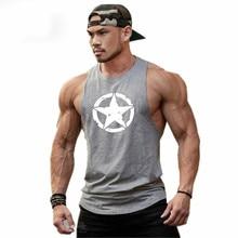 Summer Cotton Gym T Shirt Running Vest Men Bodybuilding Stringer Tank Tops Sleeveless Undershirt Fitness Top Sport