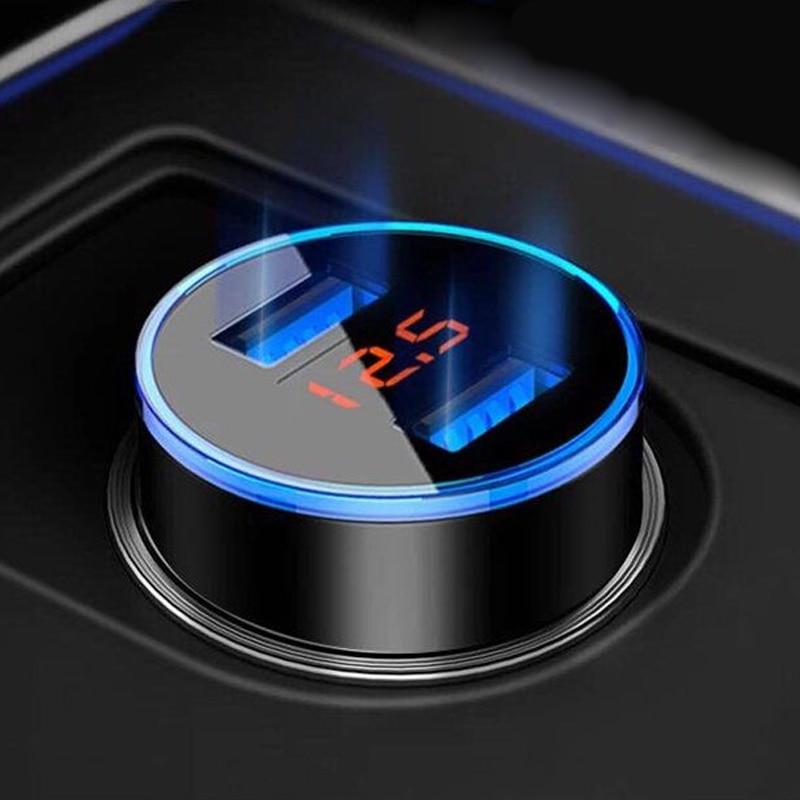 Автомобильное зарядное устройство 5V 3.1A со светодиодным дисплеем Универсальный двойной Usb для Volvo XC60 XC90 240 850 S40 S60 S80 XC70 V70 V60 V50 V90 V40 C30 FH
