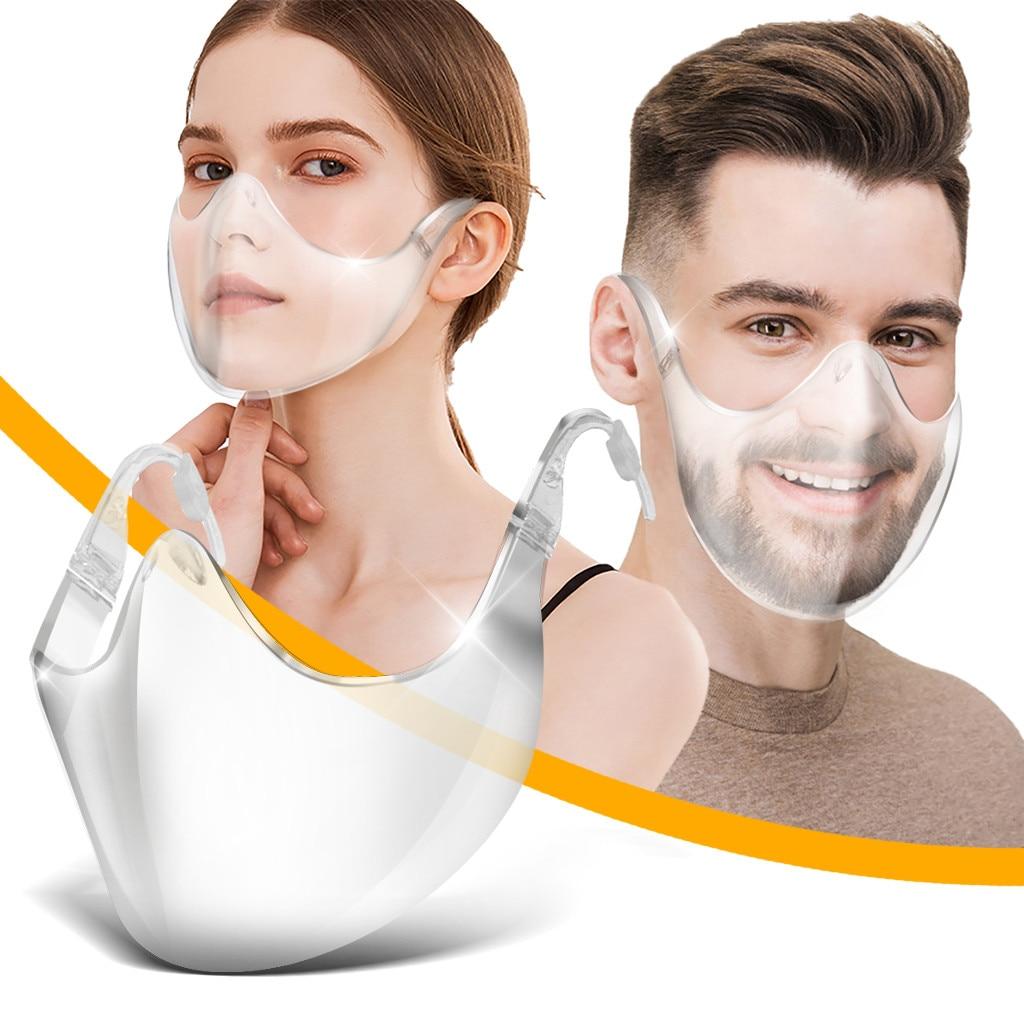 Прозрачная прочная сетка для лица C0ver, комбинированный пластиковый многоразовый прозрачный уличный инструмент, медицинские аксессуары