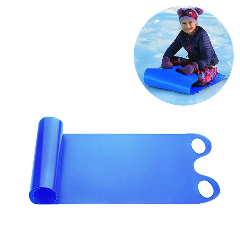 Portable Winter Snow Sled Cold Resistant Roll Up Sand Grass Rolling Slider Pad Board Toy For Adult Children Winter Sport