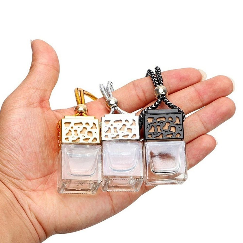 Car Auto Air Freshener Essential Oil Perfume Empty Glass Bottle Refillable Bottles Fragrance Diffuser Hanging Ornament