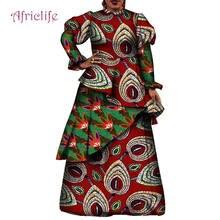 Платье женское с длинным рукавом в африканском стиле батальных