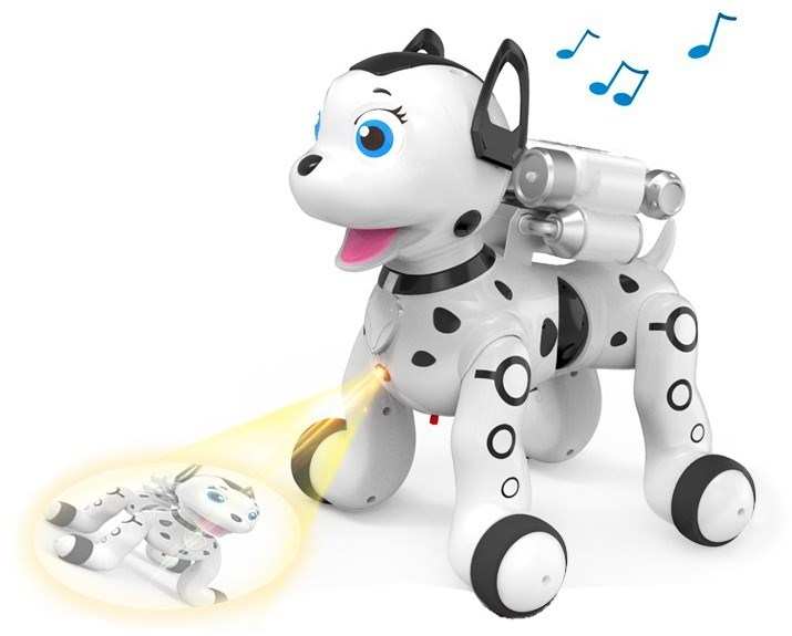 RC Dog Dalmatian, White-ZYB-B2997-4