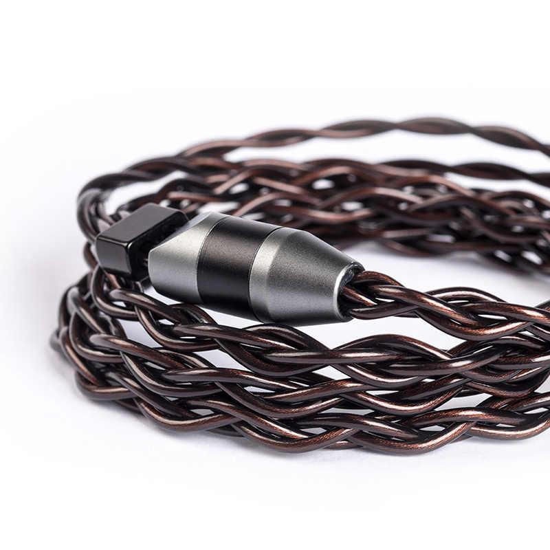 YINYOO ithalat 4 çekirdekli 7N tek kristal bakır kablo 2.5/3.5/4.4MM ile MMCX/2pin/ QDC TFZ KZ ZS10 ZSN AS10 BLON BL-03 V90