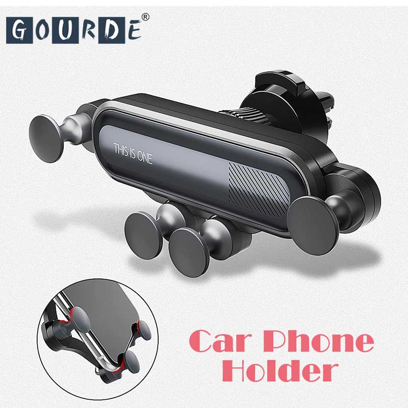 Gourde Gravity Car Phone Holder Car Air Vent Mount Holder No Magnetic Mobile Phone Stand Universal Smartphone Cell Support