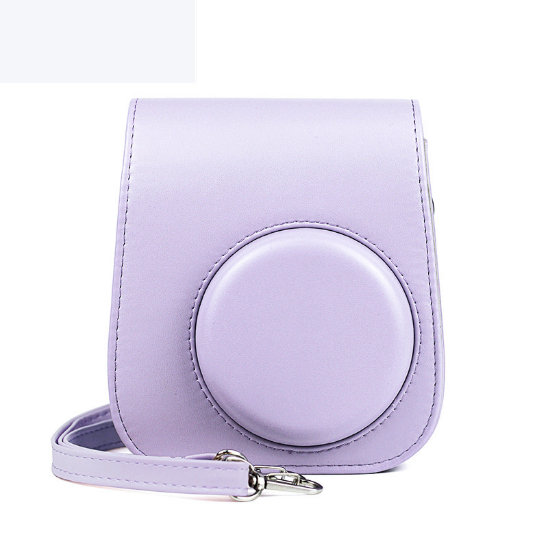 New Fujifilm Instax Mini 11 Instant Film Camera Case PU Leather Protective Soft Carry Bag Cover with Shoulder Strap