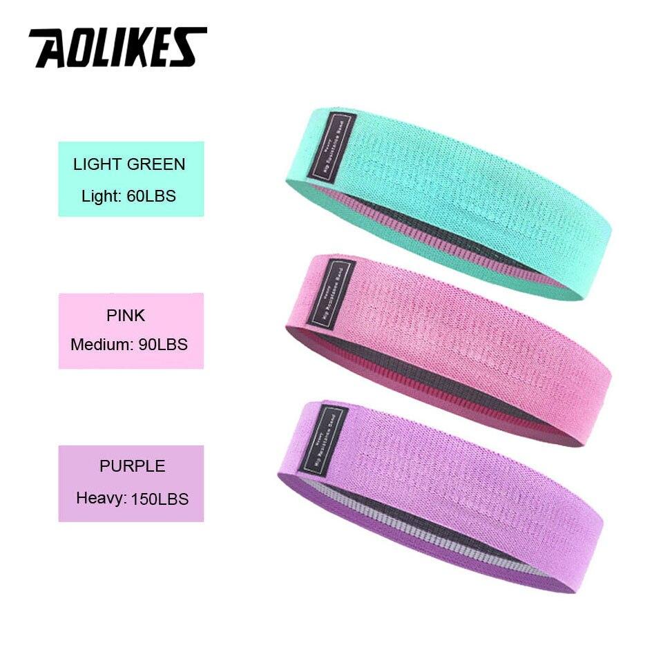 Эластичная лента AOLIKES, прочная нескользящая фитнес-резинка для йоги, занятий спортом, занятий спортом-2
