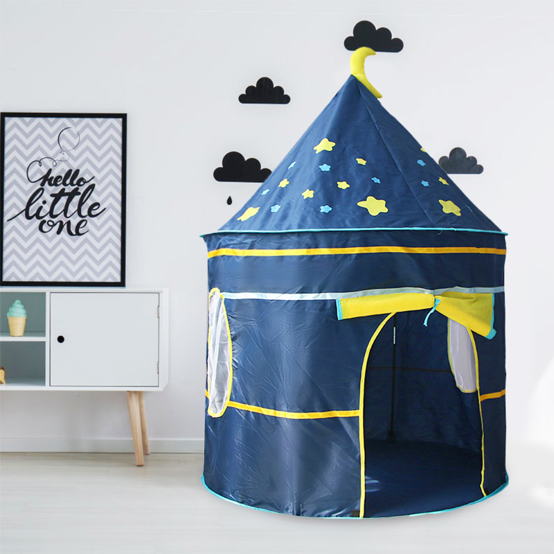 Kids Tipi Tent Baby Portable Toy Tent Toddler Play House Children Boys Girl Indoor Outdoor Foldable Castle Baby Teepee Tent Gift