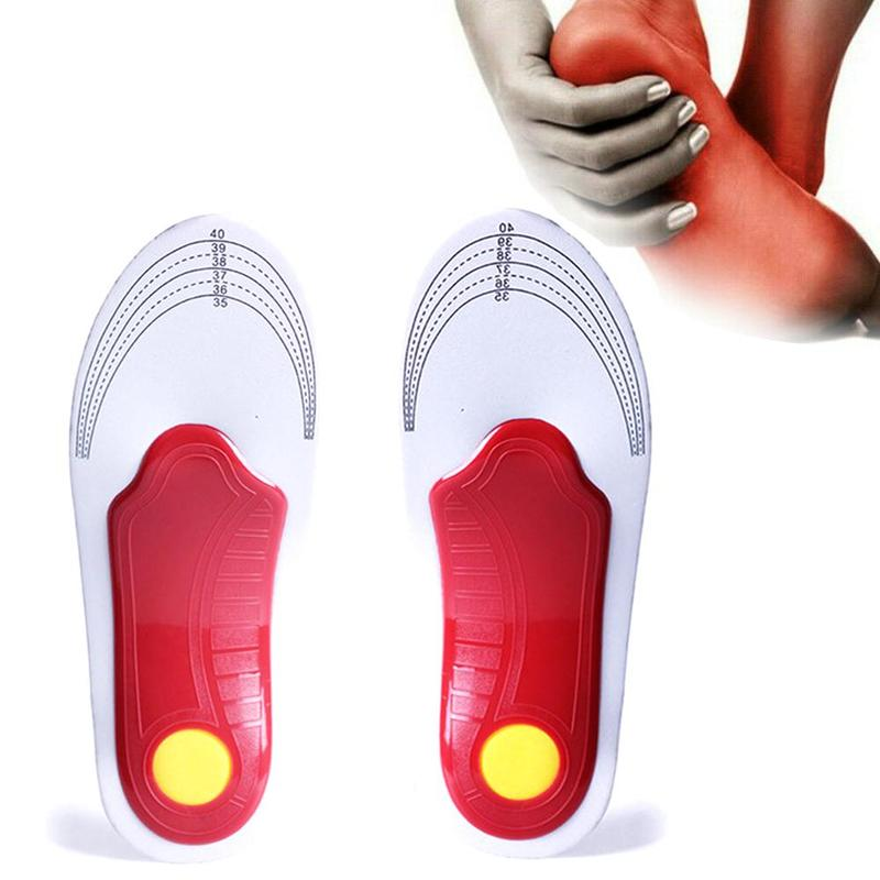 Unisex Arch Support Orthopedic Insoles Flat Feet Shoe Pads Correct Orthotic Insole Feet Care Health Orthotics Insert Shoe Pads