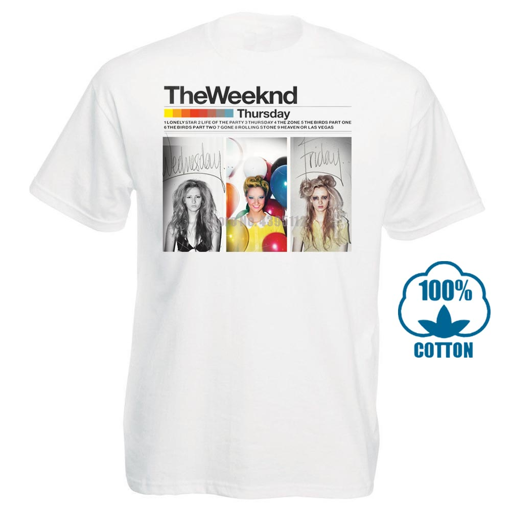 Individuality Short Sleeved Cut Holes Wild New The Weeknd Thursday Music Men T Shirt