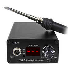 YAOGONG T12 intelligent digital display electric soldering iron welding station Portable constant temperature adjustable цена 2017