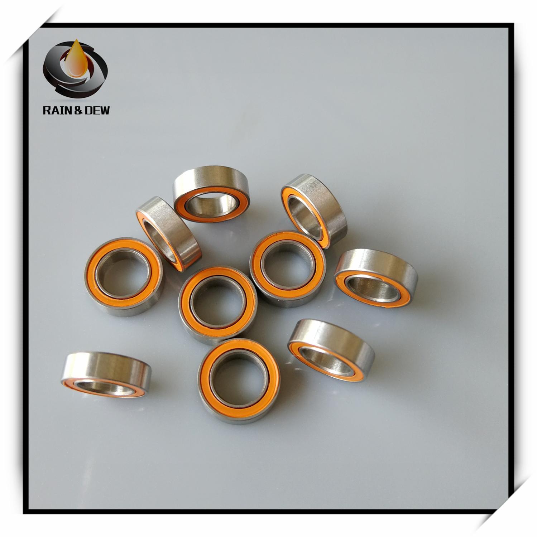 5x9x3 mm ABEC-7 Orange 440c CERAMIC Stainless Steel Bearing 10 PCS SMR95-2RS