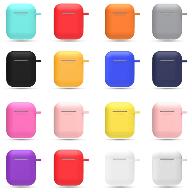 Case Earphone Airpods Soft-Silicone-Case Storage-Boxes Shockproof-Cover For Pple Pple