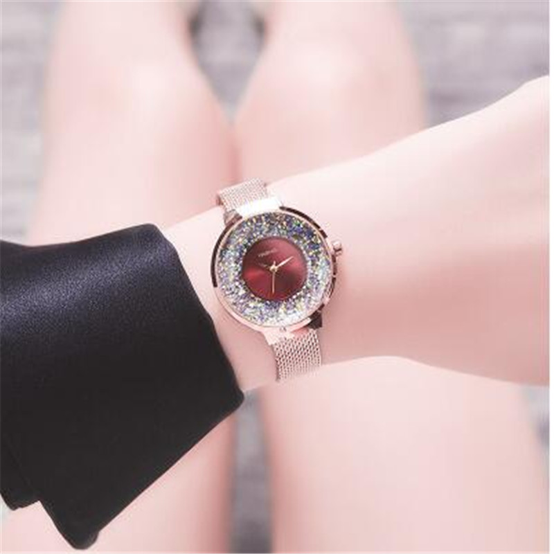 Fashion Hot Selling Luxury Diamond Rose Gold Ladies Wrist Watches Magnetic Women Bracelet Watch For Female Clock Gifts