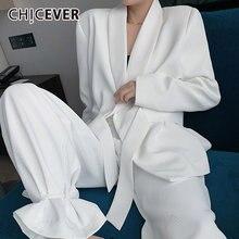 Chicever белый комплект из двух предметов для женщин с v образным