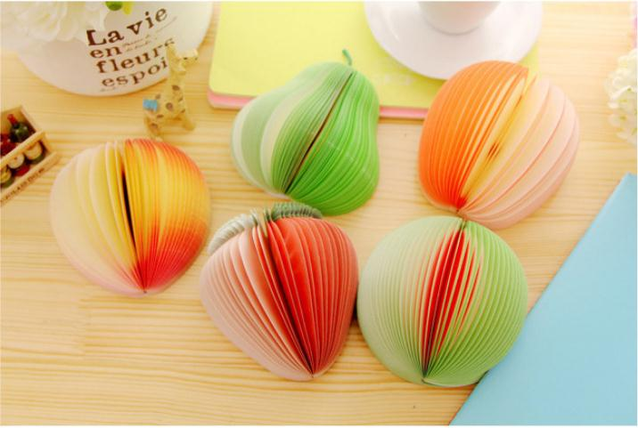 Fruit Note Memo Pads Portable Paper Notepads Post Sticky Shape WH