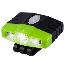 Lampka LED z klipsem na czołówka akumulator 100 lumenów Ultra jasne  lekka  wodoodporna  najlepszy kapelusz światło dla wędkarzy ręcznie pracy z daszkiem w Zewnętrzne narzędzia od Sport i rozrywka na