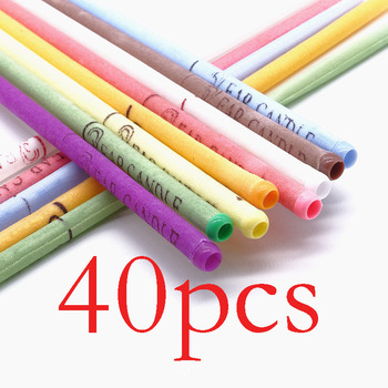 10-40PCS Ear Candle Hopi Ear Cleaner Wax Removal Ear Candles Treatment Care Healthy Hollow Cone Indian Aromatherapy Ear Candle