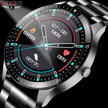new bluetooth smart watch ex28 ip67 waterproof support call sms alert pedometer sports activities tracker wristwatch for android LIGE New Men Smart watch IP67 waterproof Sports watch heart Rate fitness tracker men And women Smart watch For IOS Android +Box