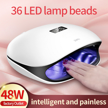 Sun4 UV LED Nail Lamp 48w Dryer Lamps LED Manicure for Drying Gel Polish 48w Nail Light 405nm Nails Art Beauty Dryer Curing Gel high quality sun1s 24w 48w led nail lamp nail dryer automatic sensing uv lamp curing for uv led gel nails polish nail art tools