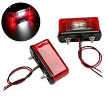 Light Trailer-Tail-Light Waterproof License-Plate-Lamps Universal 24V Car Truck Led Red