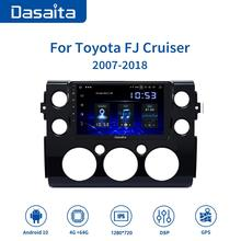 Dasaita Android 10.0 Car Radio for Toyota FJ Cruiser GPS 2007 2010 2011 2012 2015 2016 Navigation TDA7850 Bluetooth