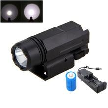 3000LM Q5 XPE LEVOU Luz de Caça com Weaver Picatinny Mount Arma 3 Modos Tática Torch Light + Bateria + Carregador