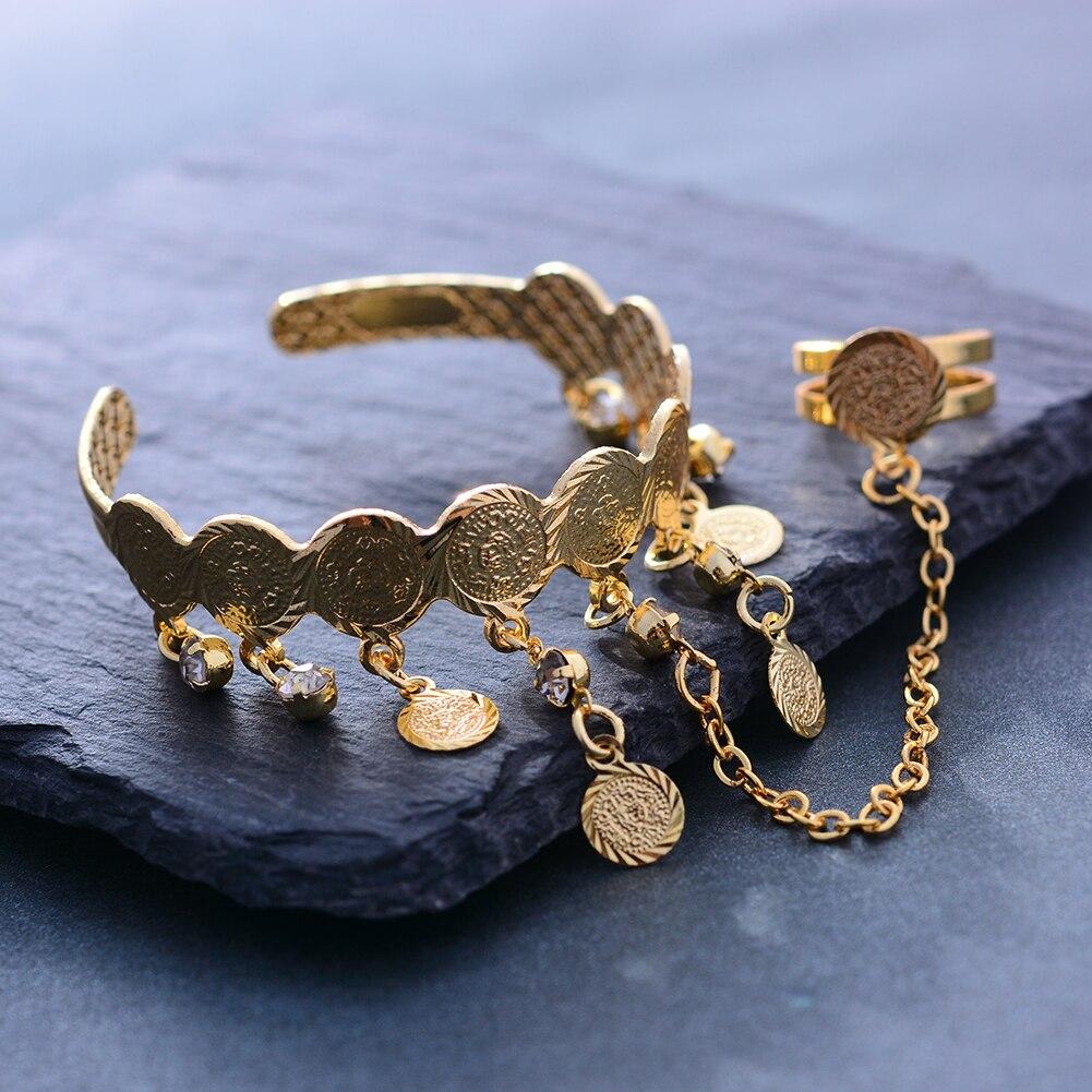 Wando Free Size Kids/Baby/Girls Coin Bracelet Bangles For Baby Islam Muslim Arab Coins Money bracelet Child holiday gift