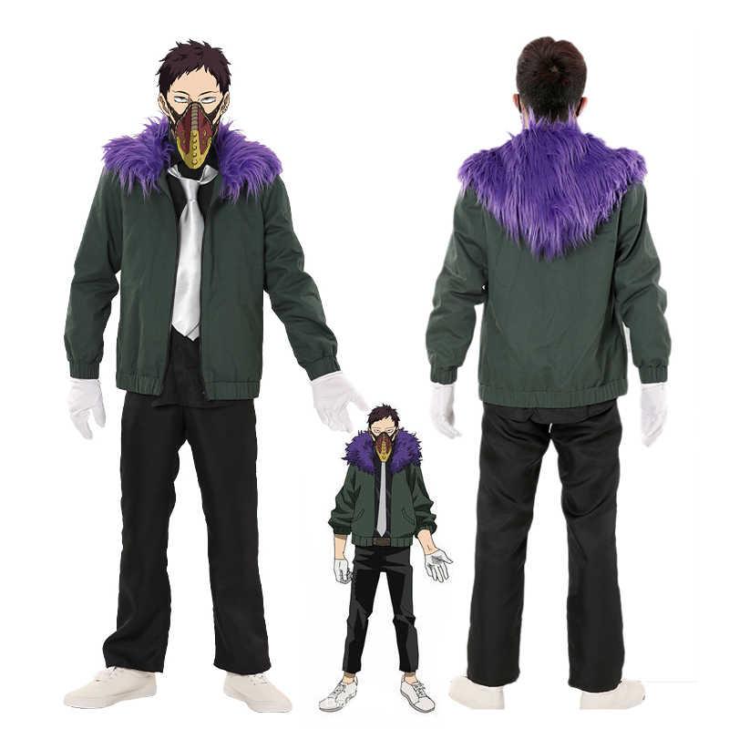 Anime Boku hiçbir kahraman Academia revizyon Chisaki Kai Cosplay kostüm My Hero Academia erkek kadın üniforma ceket peruk