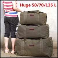 Große Kapazität Leinwand Reise Gepäck Tasche Im Freien Reise Duffle Tasche