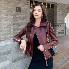 Coat Biker-Clothes Jacket.fashion Sheepskin Women Casual Slim New-Quality Wholesales