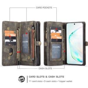 Image 5 - CaseMe Cassa del Cuoio di Vibrazione Per Samsung Nota 8 9 10 S8 S9 S10 Più S20 A30 A40 A50 A70 A51 multi funzionale Magnetica Casse Del Telefono